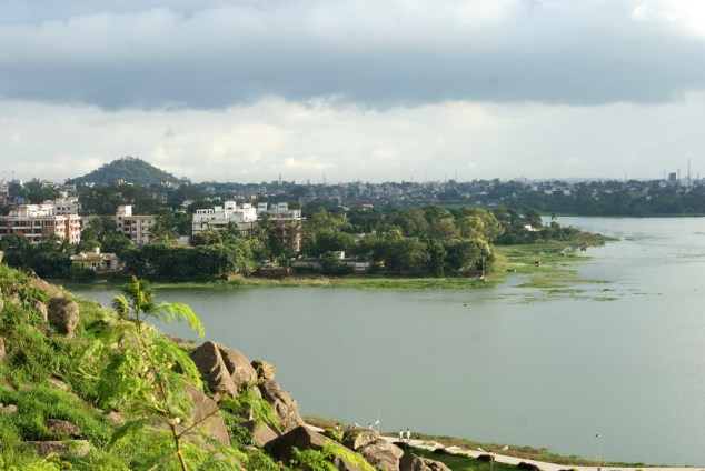 View of Kanke Dam from Rock Garden