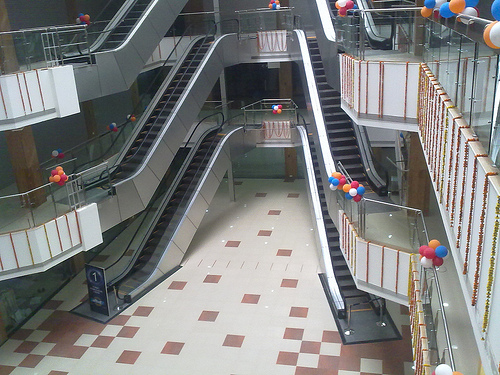 Escalators at P & M Mall