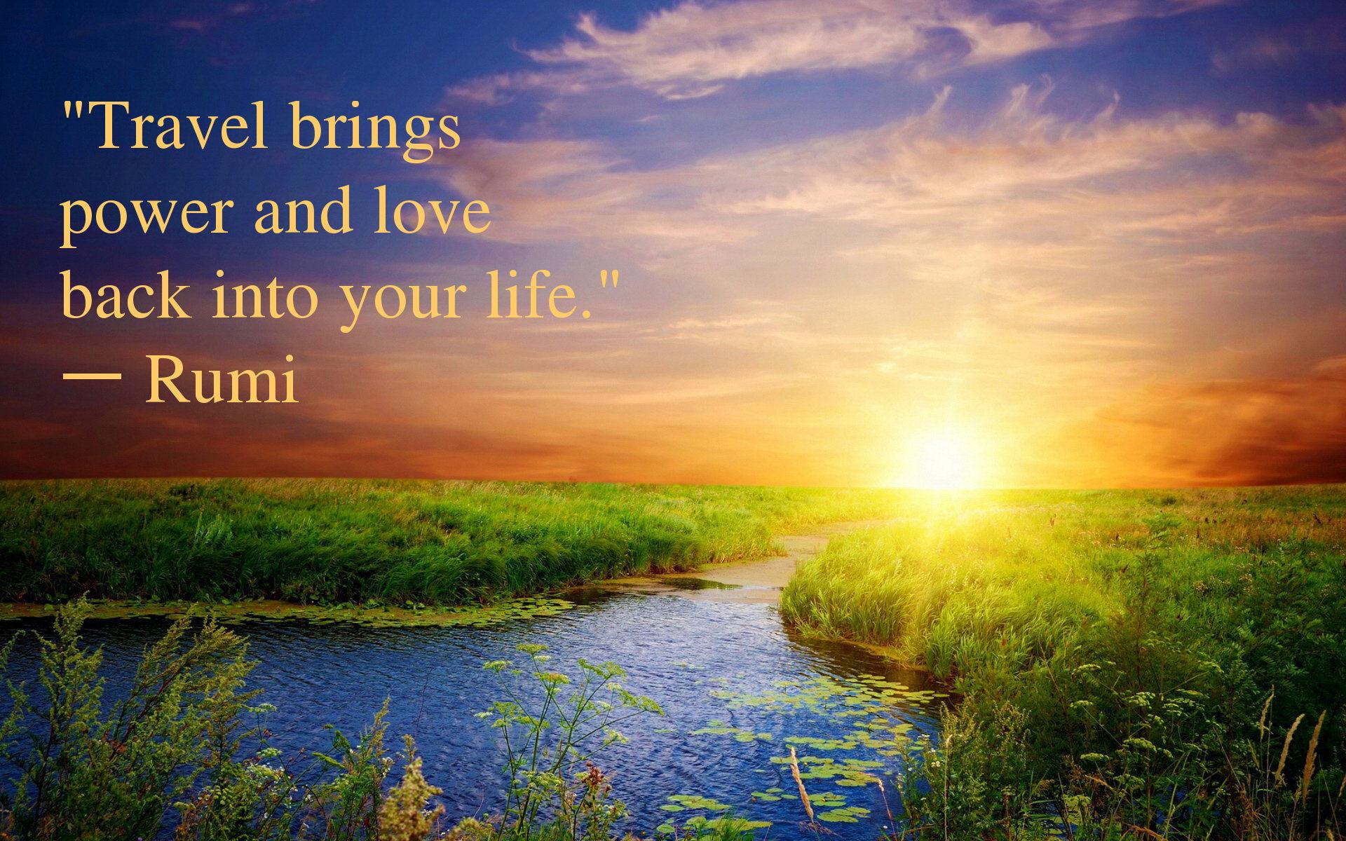 Travel Quote Of The Week: Travel Quote Of The Week – Rumi
