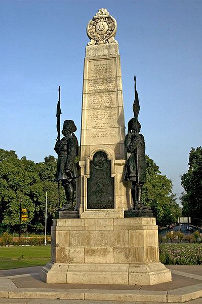 Three Statues Outside Teen Murti Bhavan Delhi
