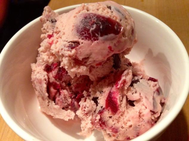 Cherry Bourbon Ice-Cream