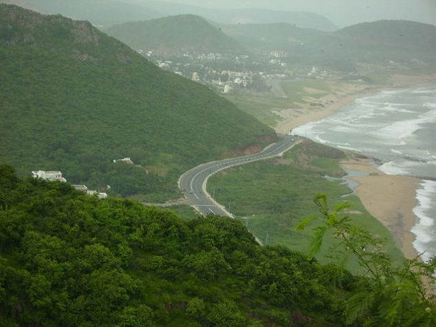 Beach Road from Kailashagiri