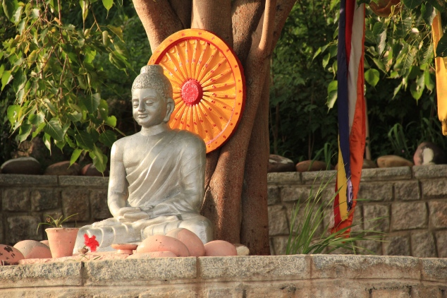 Statue of Buddha at Ananda Buddha Vihara