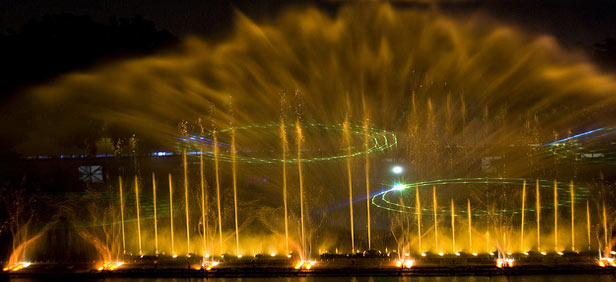Lumbini Park's Musical Fountains
