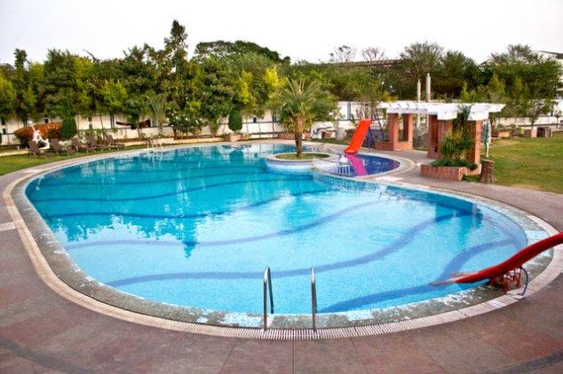 Swimming Pool at Vishal Prakhruti Resorts Hyderabad