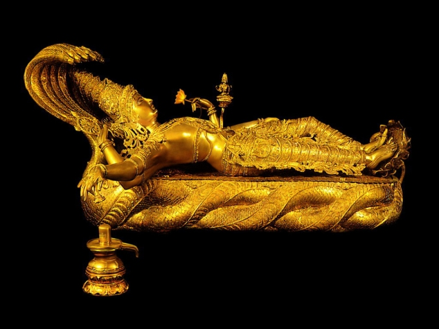 view-of-padmanabhaswamy -mahavishnu-idol